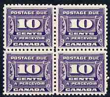 Canada 1933-34 Postage Due 10c violet block of 4 unmounted mint SG D17