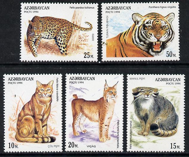 Azerbaijan 1994 Wild Cats complete set of 5 unmounted mint