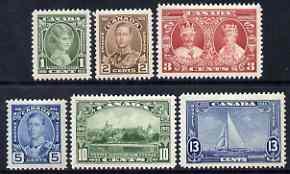Canada 1935 KG5 Silver Jubilee set of 6 mtd mint SG 335-40