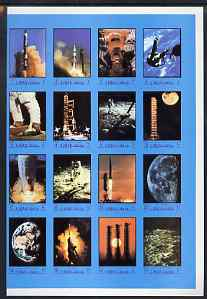 Ajman 1970 Apollo & Gemini Programmes imperf set of 16 unmounted mint (Mi 593-612B)
