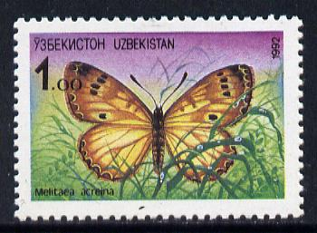 Uzbekistan 1992 Butterfly (1 value) SG 2 unmounted mint*