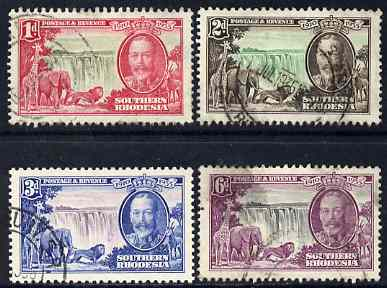 Southern Rhodesia 1935 KG5 Silver Jubilee set of 4 cds used SG31-34