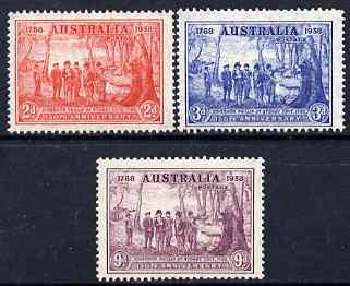 Australia 1937 New South Wales set of 3 very lightly mounted SG 193-95