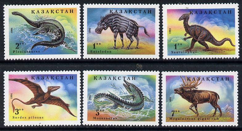 Kazakhstan 1994 Dinosaurs perf set of 6 unmounted mint