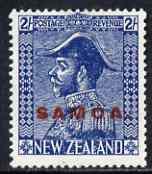 Samoa 1926-27 KG5 Admiral 2s deep blue mtd mint SG 167