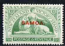 Samoa 1920 Victory 1/2d mtd mint SG 143
