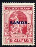 Samoa 1920 Victory 1d mtd mint SG 144