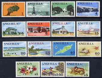 Anguilla 1967 definitive set complete 1c to $5 unmounted mint SG 17-31