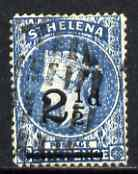 St Helena 1884-94 QV Crown CA 2.5d ultramarine fine used with selected cork cancel SG40