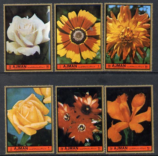 Ajman 1972 European Flowers perf set of 6 unmounted mint (Mi 2138-43A)