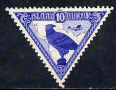 Iceland 1930 Gyrfalcon 10a lightly mounted SG 173, stamps on