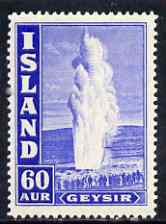 Iceland 1938-47 Great Geyser 60a P14 lightly mounted SG 232