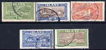 Iceland 1925 set of 5 fine used SG 151-55