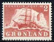 Greenland 1950-60 Polar Ship 2k red mtd mint SG 35