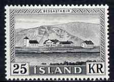 Iceland 1957 Presidential Palace 25k mtd mint, SG 349