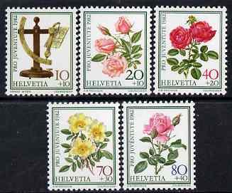 Switzerland 1982 Pro Juventute Roses set of 5 unmounted mint SG J278-82