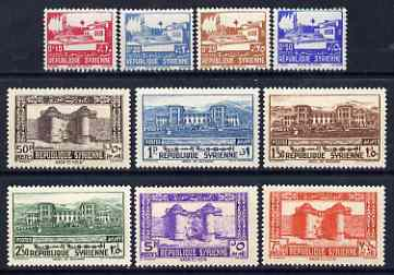 Syria 1940 Postage set of 10 unmounted mint SG 341-50