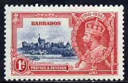 Barbados 1935 KG5 Silver Jubilee 1d mtd mint SG 241, stamps on , stamps on  kg5 , stamps on silver jubilee, stamps on castles