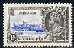 Barbados 1935 KG5 Silver Jubilee 1.5d mtd mint SG 242, stamps on , stamps on  kg5 , stamps on silver jubilee, stamps on castles