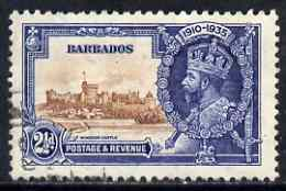 Barbados 1935 KG5 Silver Jubilee 2.5d used SG 243, stamps on , stamps on  kg5 , stamps on silver jubilee, stamps on castles