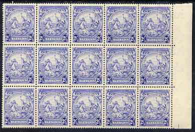 Barbados 1938-47 Badge of Colony 2.5d ultramarine unmounted mint SG 251