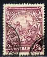 Barbados 1938-47 Badge of Colony 2s6d used SG 256
