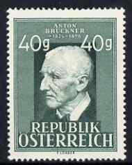 Austria 1947 Anton Bruchner 40g lightly mtd mint SG 1006
