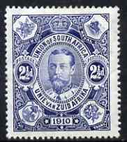South Africa 1910 Union Parliament 2.5d blue mtd mint SG 2, stamps on