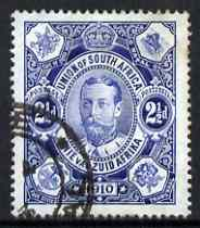 South Africa 1910 Union Parliament 2.5d deep blue used SG 1