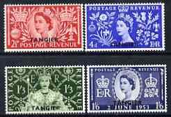 Morocco Agencies - Tangier 1953 Coronation set of 4 mtd mint SG 306-9