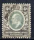 Nyasaland 1903-04 KE7 4d Crown CA used SG 61