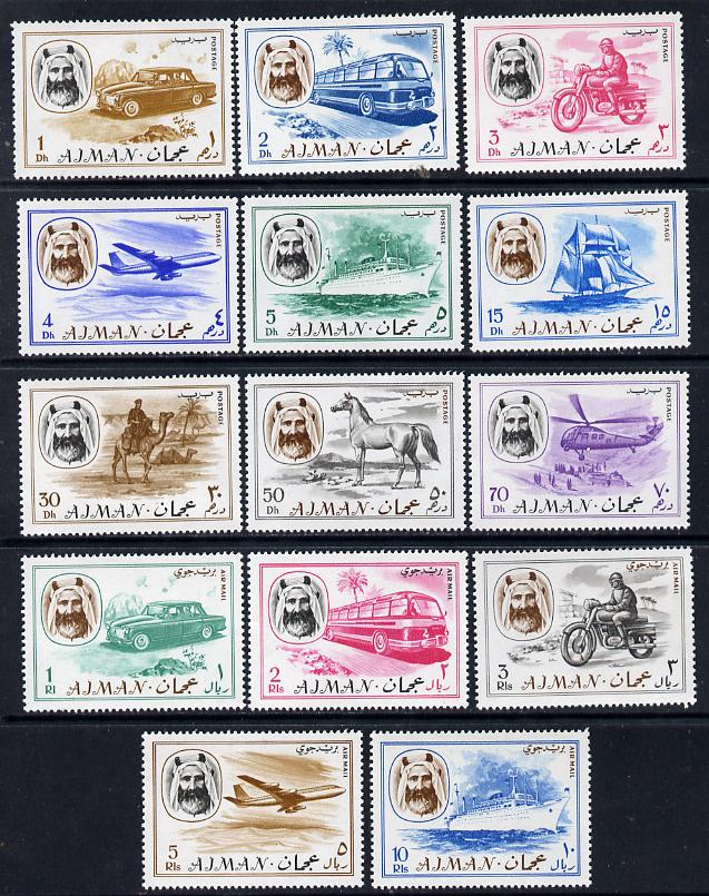 Ajman 1967 Transport perf set of 14 unmounted mint (Mi 127-140) SG 135-48*