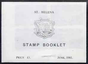 Booklet - St Helena 1981 Booklet \A31 white cover stapled at bottom SG SB4