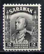 Sarawak 1934-41 Brooke 2c black unmounted mint SG 107a
