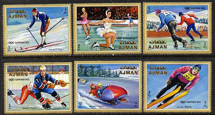 Ajman 1970 Winter Olympics set of 6 unmounted mint, Mi 662-7A