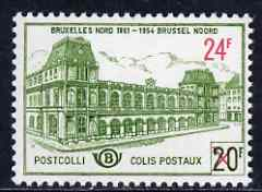 Belgium 1961 Railway Parcel Stamp 24f on 20f Brussels North Station unmounted mint SG P1787