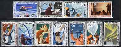 Australian Antarctic Territory 1966 definitive set 1c to $1 complete unmounted mint, SG 8-18