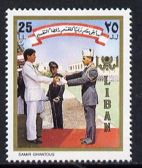 Lebanon 1988 Installation of President (1 value) unmounted mint SG 1302