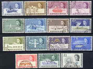 British Antarctic Territory 1963 original definitive set of 15 values 1/2d to \A31 fine cds used, SG 1-15 cat \A3125