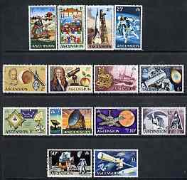 Ascension 1971 Evolution of Space Travel definitive set complete 1/2dp to \A31 unmounted mint SG 135-48