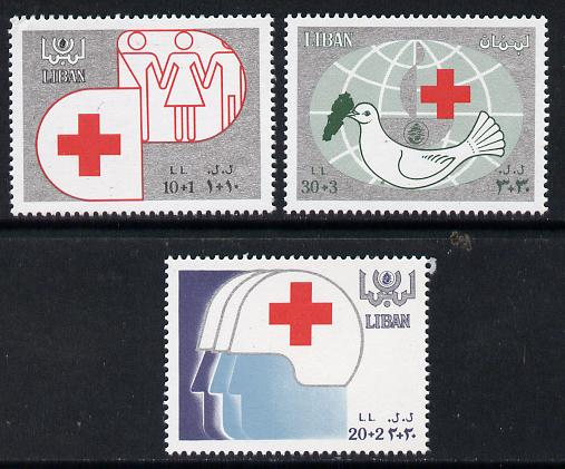 Lebanon 1988 Red Cross set of 3 unmounted mint, SG 1308-10