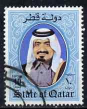Qatar 1984-88 Shaikh Khalifa 10r commerciallu used SG773