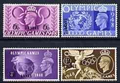British Postal Agencies in Eastern Arabia 1948 KG6 Olympic Games set of 4 mtd mint SG 27-30