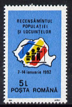 Rumania 1991 Population & Housing Census unmounted mint, Mi 4707
