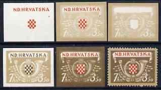 Croatia 1944 Postal & Railway Employees