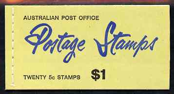 Booklet - Australia 1967 $1 booklet (green cover stitched) complete and very fine, SG SB43