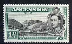 Ascension 1938-53 KG6 definitive 1d (green Mountain) mtd mint SG39