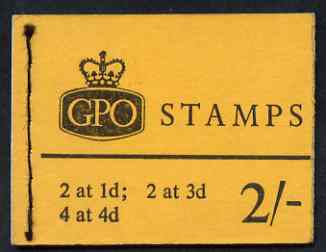 Booklet - Great Britain 1959-65 Wilding Crowns phosphor 2s booklet (April 1966) complete SG N24p
