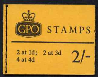 Booklet - Great Britain 1965-67 Wilding Crowns phosphor 2s booklet (Jan 1966) complete SG N23p