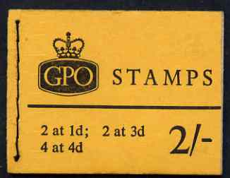 Booklet - Great Britain 1959-65 Wilding Crowns phosphor wmk 2s booklet (Jan 1967) complete SG N27p